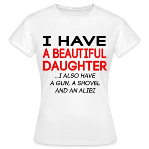 beautiful_daughter - T-skjorte for kvinner