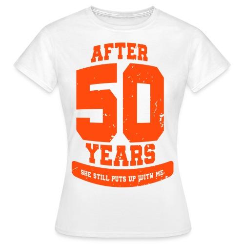 Ü50 Über 50 Jahre 50th - colorize - Frauen T-Shirt