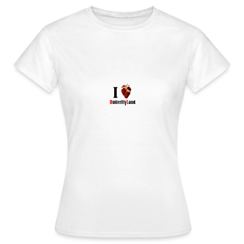 I love Butterflyland - T-shirt Femme