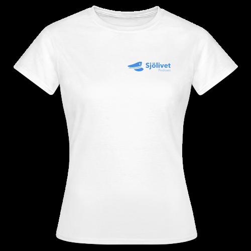 Sjölivet podcast - Svart logotyp - T-shirt dam