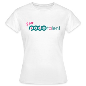 I AM PODOTALENT collectie T-Shirt White/Neongroen - Vrouwen T-shirt