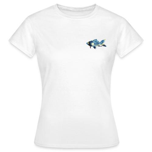 Pez estampado cuadro La noche estrellada - Camiseta mujer
