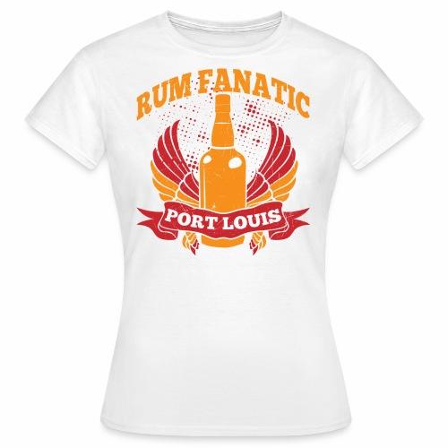 T-shirt Rum Fanatic - Port Louis, Mauritius - Koszulka damska