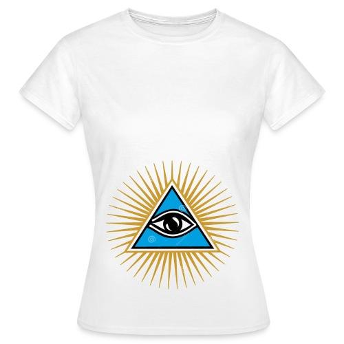 illuminati eye - Camiseta mujer