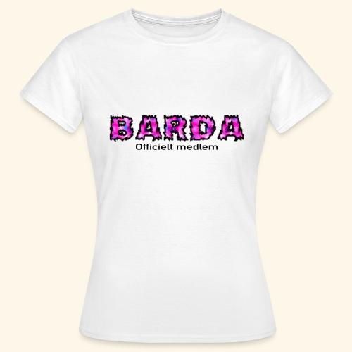 Barda medlem - Dame-T-shirt