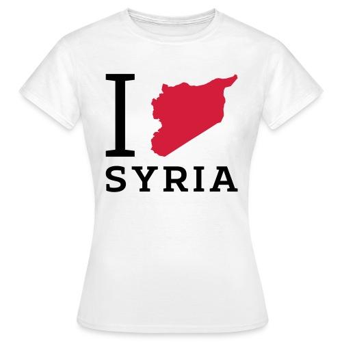 I love Syria - Vrouwen T-shirt