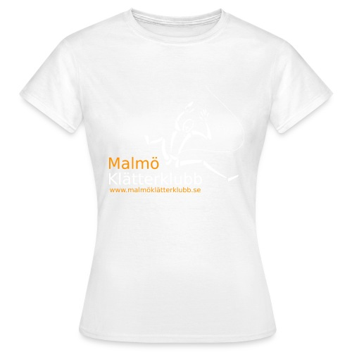 Vit logo och vit/orange text - T-shirt dam