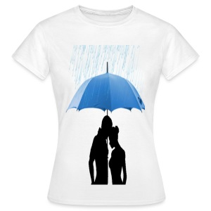 Love under the umbrella - Vrouwen T-shirt