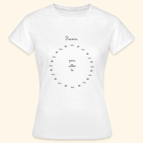 Revenir ici, et ici, et ici... pour aller là. - T-shirt Femme