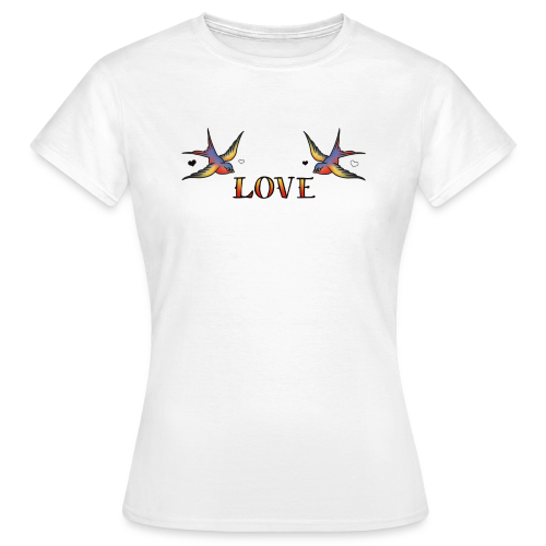 A Pair Of Swallows In Love - Women's T-Shirt