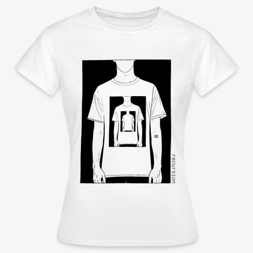 Recursion | Loop | Repeat | Optical illusion - Women's T-Shirt