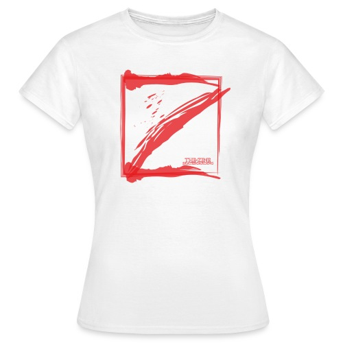 square minimalistik red logo - Frauen T-Shirt