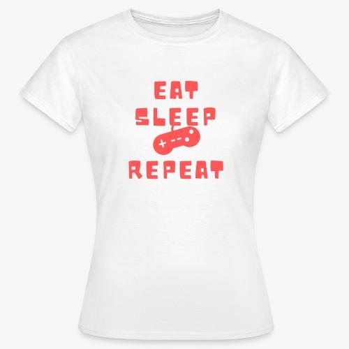Eat Sleep Game Repeat - Women's T-Shirt