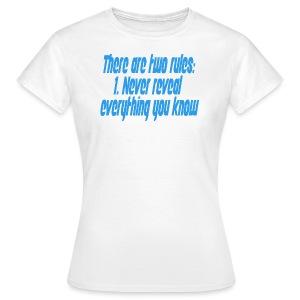 Two rules - T-skjorte for kvinner