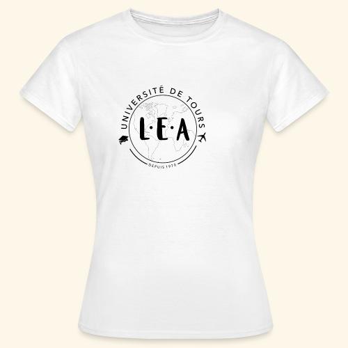 L.E.A Noir - T-shirt Femme