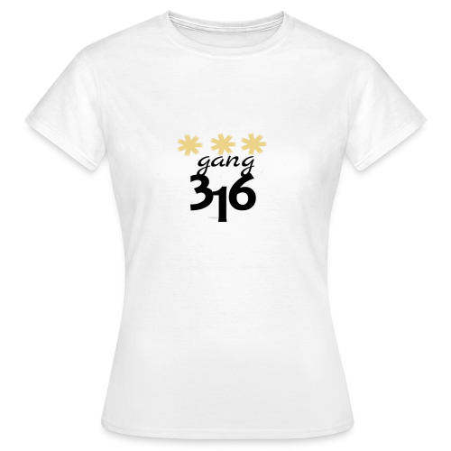 Three-Star 316 gang logo - T-shirt dam