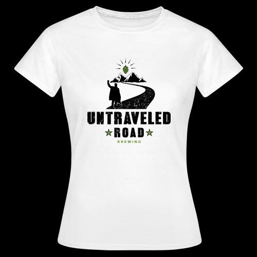 Untraveled Road Logo - schwarz/grün - Frauen T-Shirt