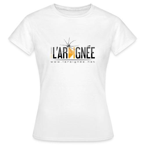 L'ARAIGNÉE, logo noir - T-shirt Femme