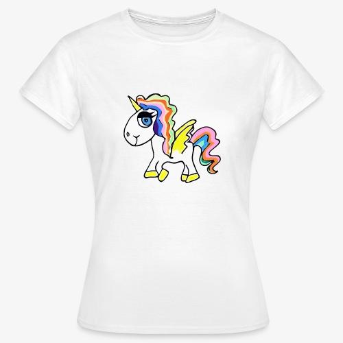 Buntes lässiges Einhorn - Frauen T-Shirt