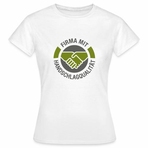 Handschlagqualität Logo grau - Frauen T-Shirt