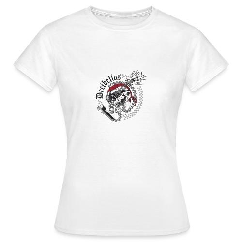 skull logo trans letras negras - Camiseta mujer