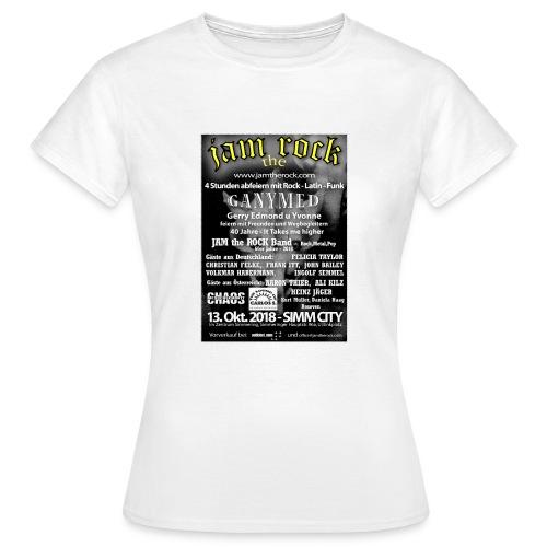 Plakat gold weiss - Frauen T-Shirt