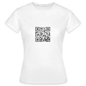 Plain QR Aesthetic Design - Women's T-Shirt