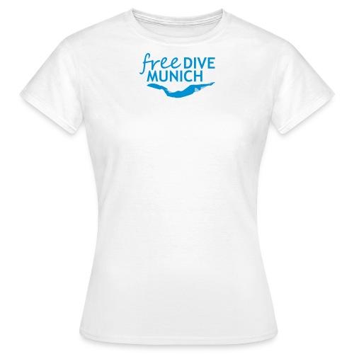FreeDive Munich Logo zweifarbig - Frauen T-Shirt