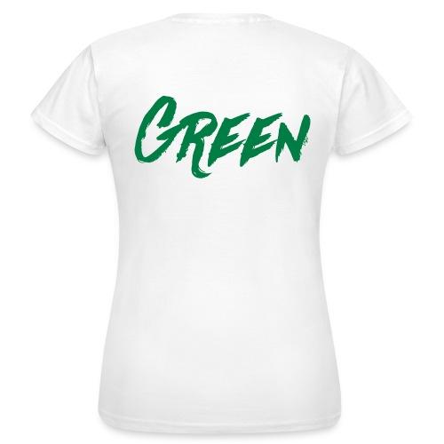 green-scritta-verde - Maglietta da donna