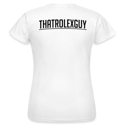 ThatRolexGuy Orginal: Vitt - T-shirt dam