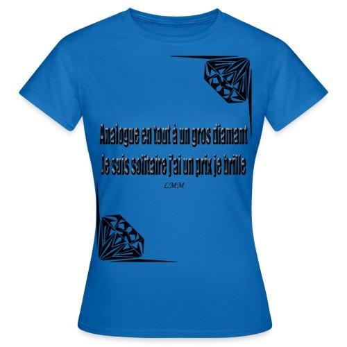 Solitaire black png - T-shirt Femme