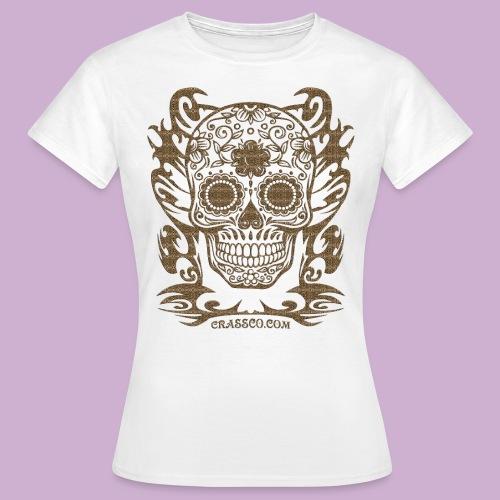 SKULL FLOWERS LEO - Frauen T-Shirt