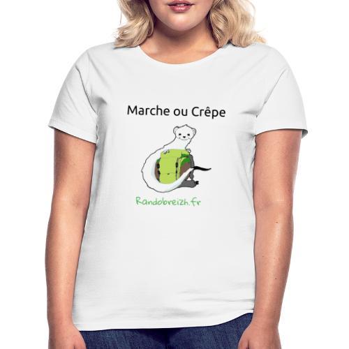Randobreizh, marche ou crêpe - T-shirt Femme