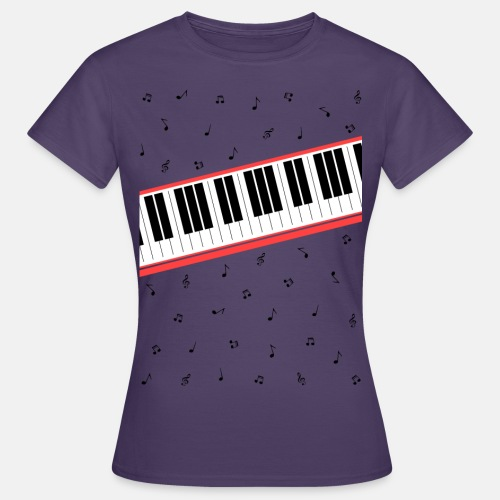 Beat It - piano and sheet music - Women's T-Shirt