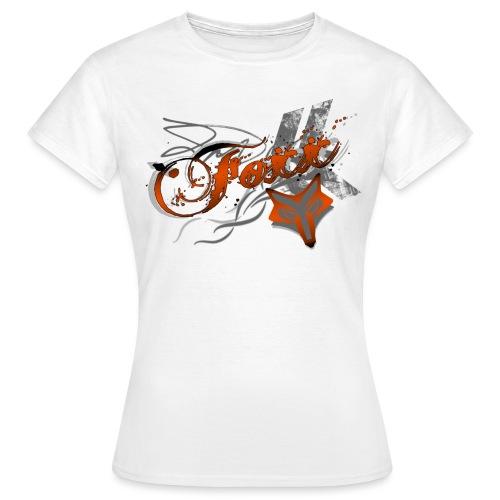 Grunge Orange Foxx - Women's T-Shirt