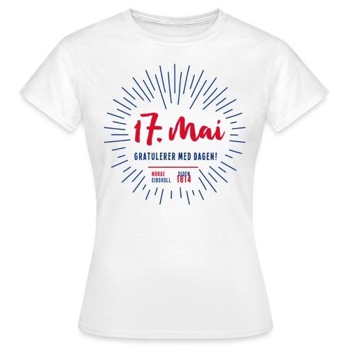 17. mai T-skjorte - Det norske plagg - T-skjorte for kvinner