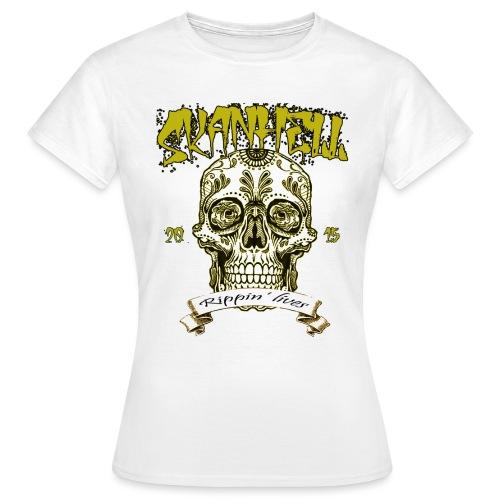 Skanhell Mexican Skull - Maglietta da donna