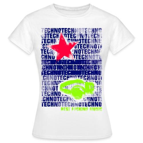 techno stern 1 - Frauen T-Shirt