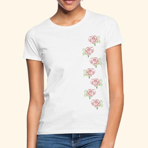 rote Rosen Kette Rose Ranke Blumen Blume Blüten - Frauen T-Shirt