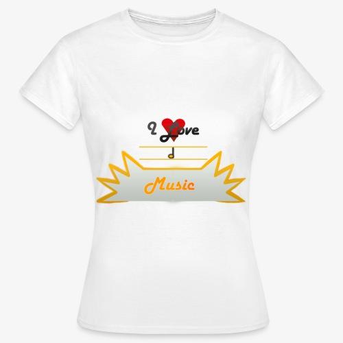 I Love Music - Koszulka damska