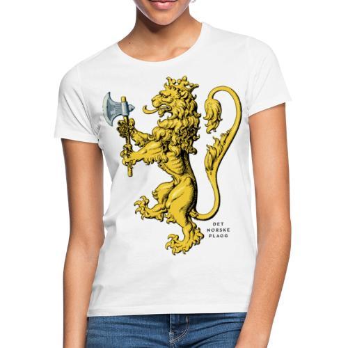 Den norske løve i gammel versjon - T-skjorte for kvinner