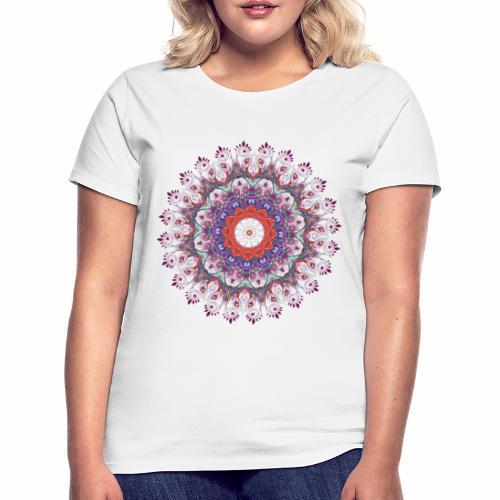 Orange mandala - Dame-T-shirt