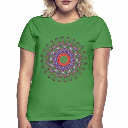 Orange mandala - Dame-T-shirt