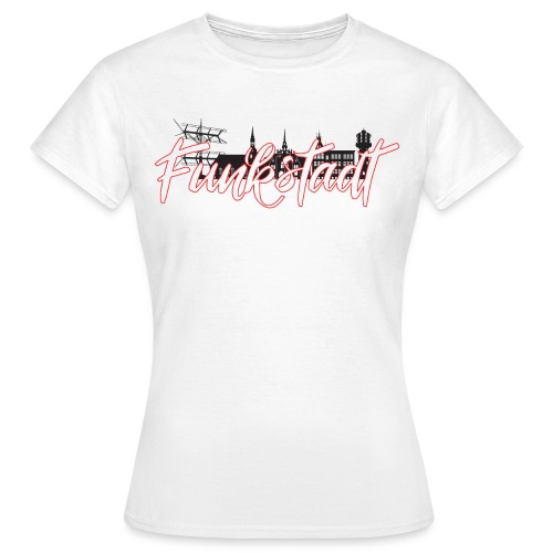 Funkstadt Shirt black / red - Frauen T-Shirt