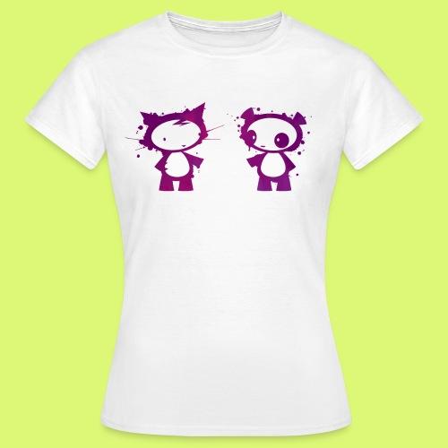 Panda und Katze 2 - Frauen T-Shirt