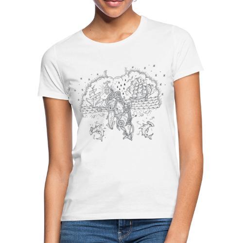 Skrimshaw Whale - Women's T-Shirt