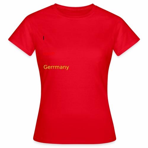 deutschland germany liebe love ich ego farbe - Frauen T-Shirt