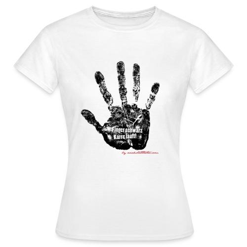 Finger schwarz Karre läuft 1 - Frauen T-Shirt