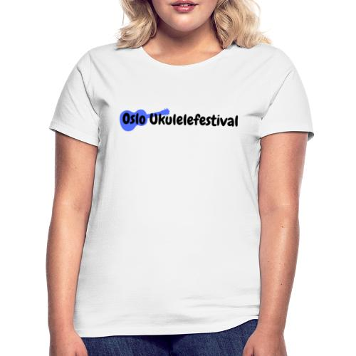 Oslo Ukulelefestival blå logo - T-skjorte for kvinner
