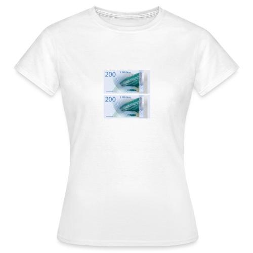 2 blå - T-skjorte for kvinner